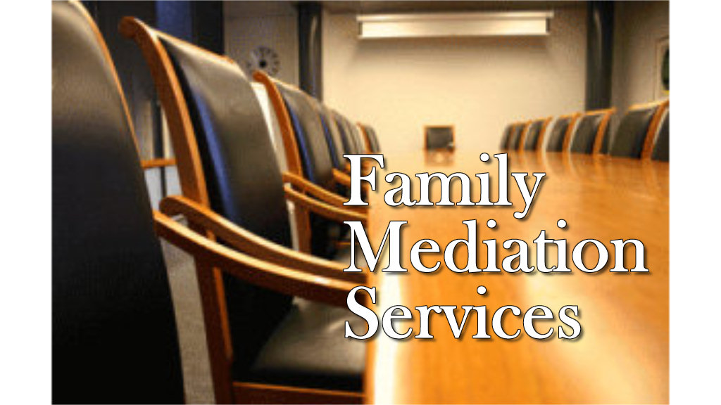 Affordable Family Mediation services offered on a sliding fee scale.